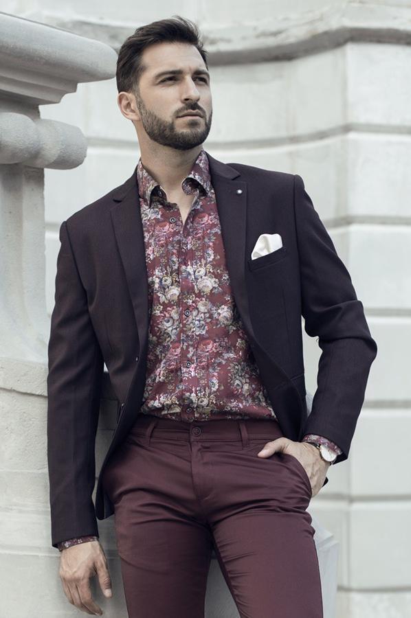 Koszule męskie w kwiaty